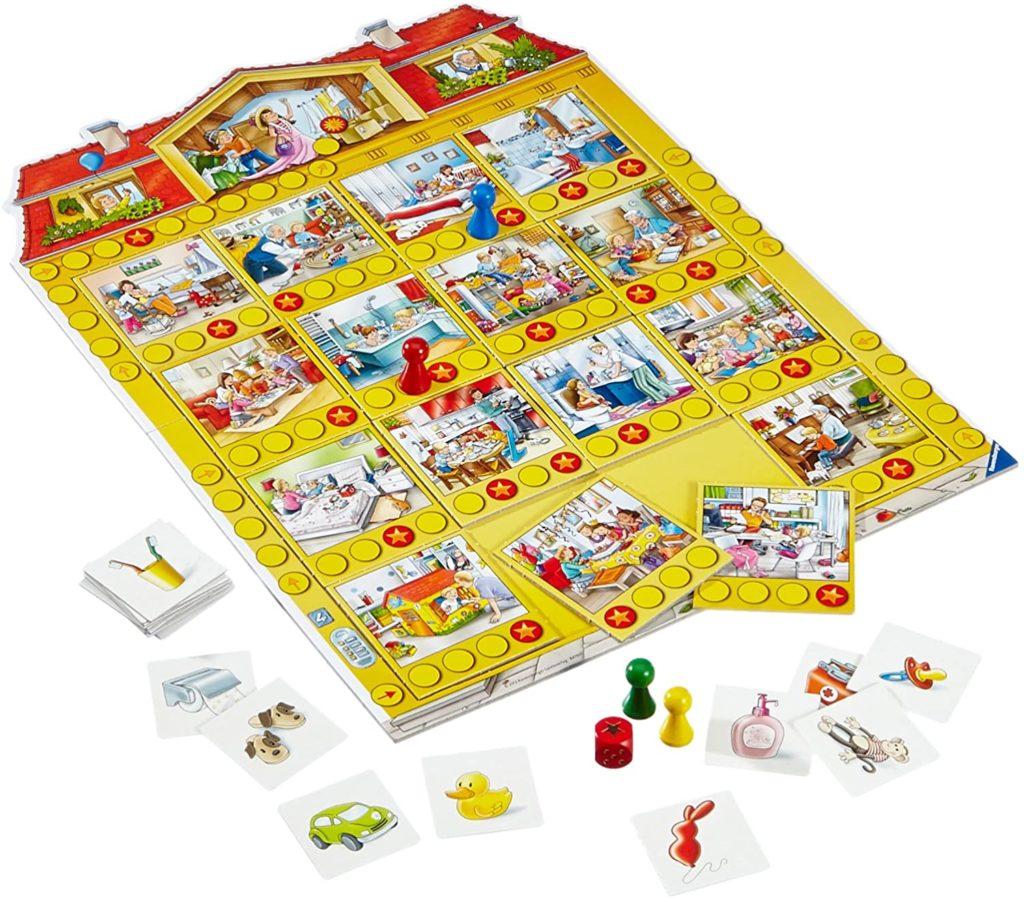 Spielhaus, Ravensburger, Spiel ab 4 Jahre, Spiele ab 4 Jahre, Brettspiele, Brettspiel, Gesellschaftsspiel, Gesellschaftsspiele, Familienspiel, Familienspiele
