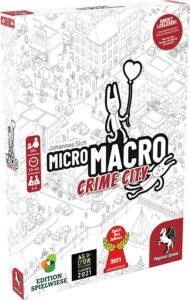 MicroMacro: Crime City, Spiel des Jahres 2021, Spiel ab 10 Jahre, Spiele ab 8 Jahre, Brettspiele, Brettspiel, Gesellschaftsspiel, Gesellschaftsspiele, Familienspiel, Familienspiele, micro macro crime city
